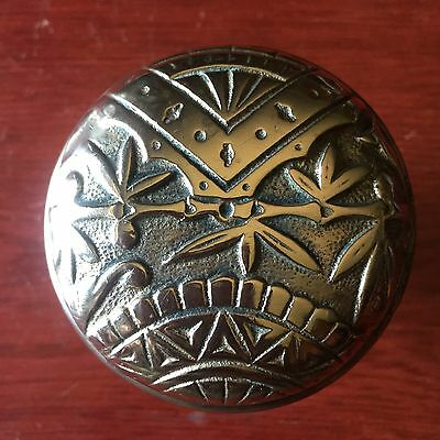 Antique Victorian Picket Fence  OrientaL Branford Cast Brass Doorknob