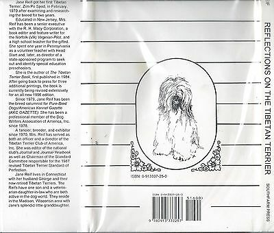 GREAT Dog Art Book REFLECTIONS ON THE TIBETAN TERRIER Jane Reif HBDJ 2nd Ed 1995