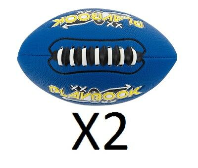 Franklin Mini Playbook Football With Spacelace Colors Vary Unique Size (2-Pack)