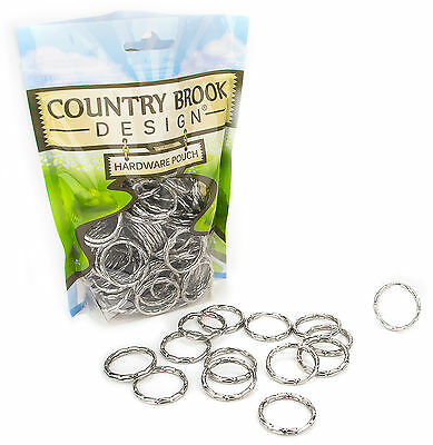 25 - Country Brook Design® 1 Inch Designer Keychain Split Rings