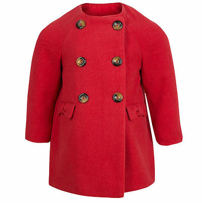 Baby & Girls Warm Winter Red CoatJacket Soft Touch 9-12 12-18 18-24 Months