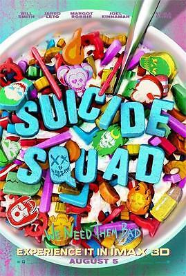 Suicide Squad Cereal Movie Poster Film A4 A3 Art Print Cinema