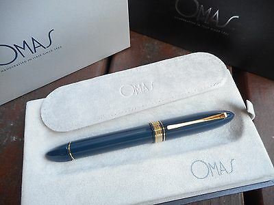 Omas 360 Large Blue And Vermeil Fountain Pen