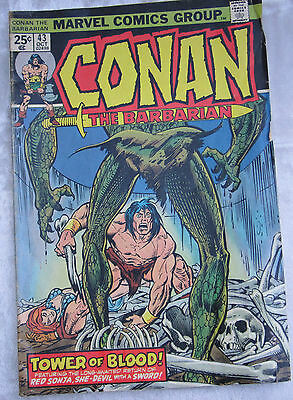 Conan the Barbarian #43 October 1974 Featuring Red Sonja Marvel Comic Book