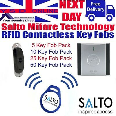 Salto Access Control Key Fob 1kb Pack Of 5 - 10 - 25 - 50 In Blue RFID Key Fobs