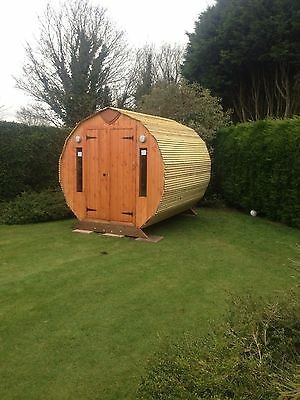 Glamping Pod Round Log Cabin perfect Guest room or Garden office sun room or B&B