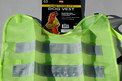 Pet Dog High Vis Visibility Safety Mesh Vest Reflective Coat  Night Time Walk