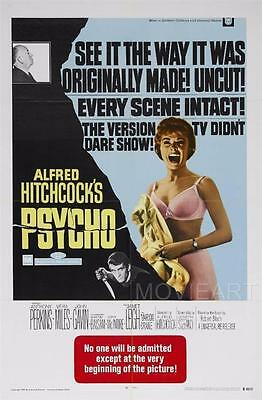 Psycho Vintage Movie Poster Film A4 A3 Art Print Cinema