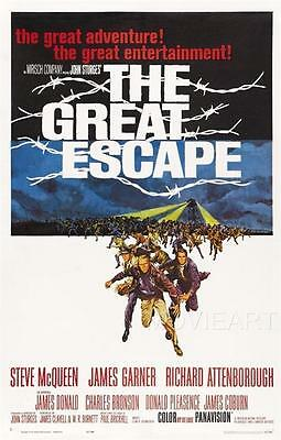 The Great Escape Vintage Movie Poster Film A4 A3 Art Print Cinema