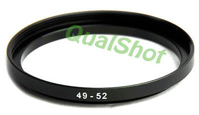 Step-up adapter ring 49-52 49mm-52mm Anodized Black , in USA