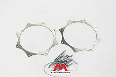 """bezel,Bullhorns 4/"""" exhaust ring Stainless Collector ring,trim ring"""