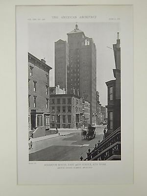 Perspective, Allerton House, East 39th Sreet, New York, NY, 1919, Lithograph