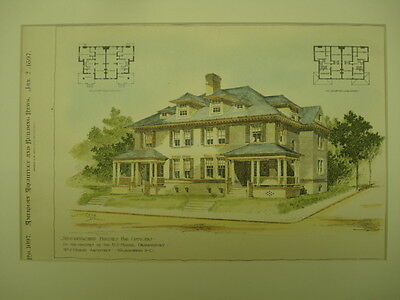 Semi-Detached House for Officers, Naval Observatory, Washington, DC, 1897, Orig.