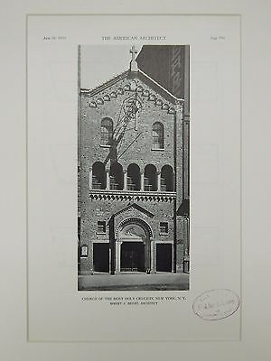Entrance, Church of the Most Holy Crucifix, New York, NY, 1929, Lithograph