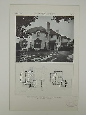 House of Frank L. Griffith, Bexley, Columbus, OH, 1929, Lithograph