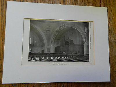 Temple Ohabei Shalom,Brookline, MASS.,Amer Arch,B.,C. & W Archs.,1928,Lithograph