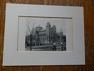 St. Joseph's Convent Chapel,Milwaukee,WIsconsin,Amer. Arch.,EXTERIOR, Lithograph