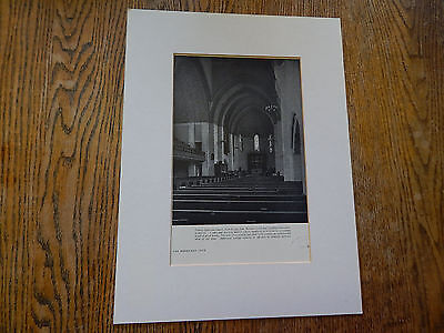 Trinty Lutheran Church,Fort Wayne,Indiana, American Architect 1930,Lithograph