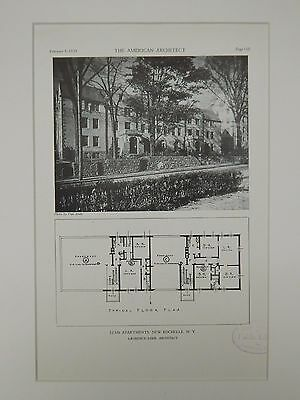 Elms Apartments, New Rochelle, NY, 1929, Lithograph