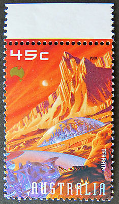 Australian Decimal Stamps: 2000 Space - Terrain - Single with Tab  MNH