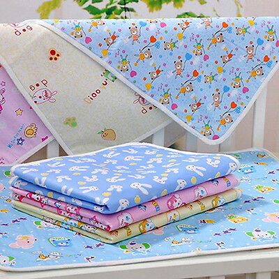 Reusable Baby Infant Diaper Urine Mat Waterproof Bedding Changing Cover Fast Pin