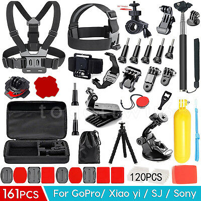 161PCS Accessories Pack Case Chest Head Monopod For GoPro 7 6 5 4 3+ 2 HD Hero
