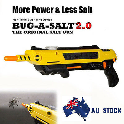 New Salt Gun for Flies Bees Stink Bugs Insect Mosquito Bug More Power Less Salt