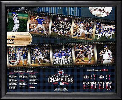 Chicago Cubs 2016 MLB World Series Champions Framed 16 x 20 Timeline Collage