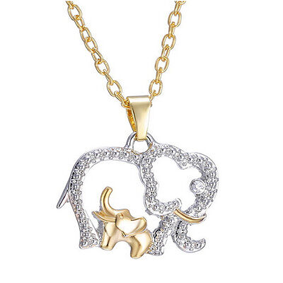 Baby Childrens lot Kids Girls Princess Elephant Pendant Necklace Crystal