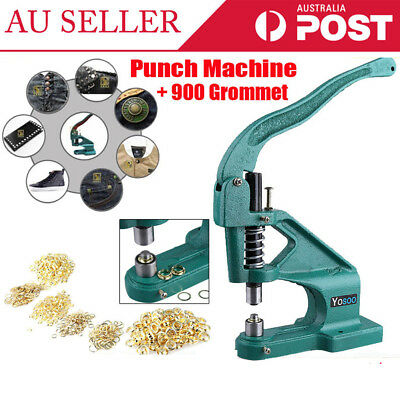 Heavy Duty Eyelets Hole Punch Punching Tool Machine 900 Grommet 3 Size Die
