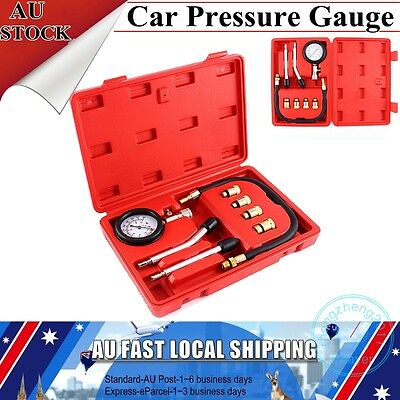 New Petrol Engine Compression Test Tester Kit Set For Automotive Car Brass Tool