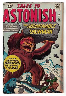 Marvel Comics VG  #24 TALES TO ASTONISH  ABOMINABLE SNOWMAN 1961
