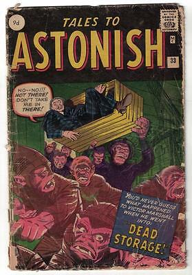 Marvel TALES TO ASTONISH 33 1.5 G- HORROR DEAD STORAGE