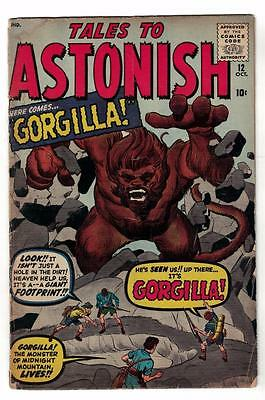 Marvel Comics VG #12  4.0 KIRBY TALES TO ASTONISH 1960 Gorgilla