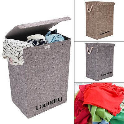 Large Laundry Baskets Washing Clothes Storage Folding Basket Bin Hamper With Lid