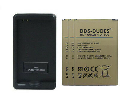 DDS-DUDES A++ OEM 3200mAh Battery for Samsung Galaxy Note 3 N9000 + Charger