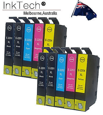 10 Pack NON OEM T220XL Ink CARTRIDGE FOR Epson WorkForce WF-2630 WF-2650 WF-2660