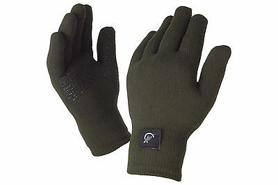 Leeda Sealskinz NEW Outdoor Thermal Ultra Grip Green Gloves *All Sizes*