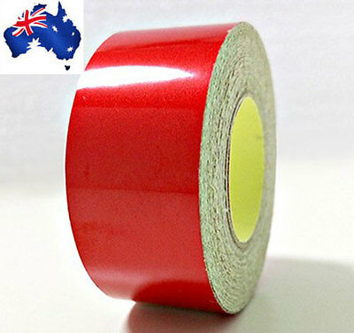 Hi-Vis Red Adhesive Vehicle Reflective Safety Tape 2cm x 5m Roll