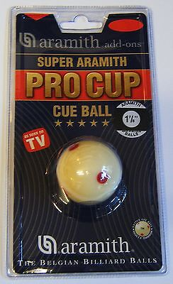 Aramith Super Pro Cup Pool Ball Spotted Cueball Cue White NEW