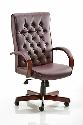NS Chesterfield Traditional High Back Leather Executive Office Swivel Chair