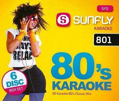 Sunfly Karaoke 801 Decades Pack 80's 6 Disc Pack Set CD + G New Sealed