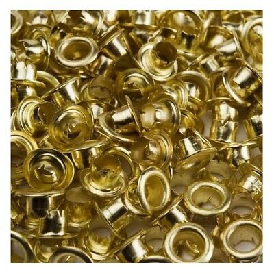 200pc BRASS EYELET RINGS 4mm INSIDE 8mm OUTSIDE FOR EYELET PLIERS LEATHER CRAFT