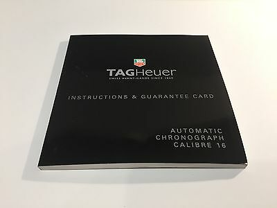 TAG HEUER - Instructions Manual - Automatic Chronograph Calibre 16