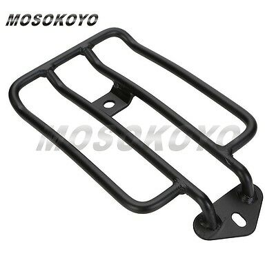 Black Singal Seat Rear Fender Luggage Rack For 2004-15 Harley XL Sportster New