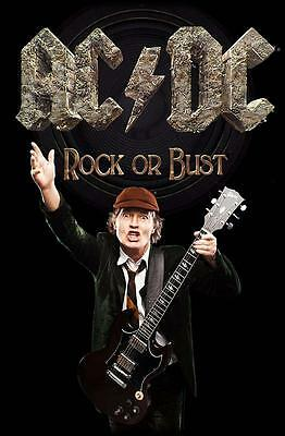 """Ac/dc Flagge / Fahne """"angus Young Rock Or Bust"""" Posterflag"""