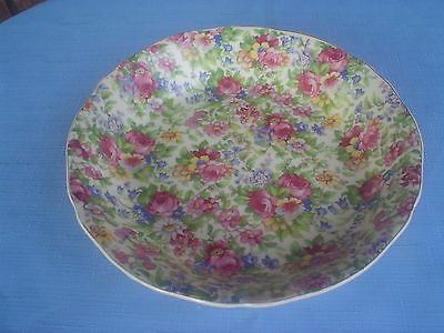 Vintage Chintz Bowl All Over Floral Superior Quality Japan