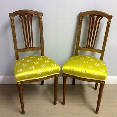 Pair of French Empire style bedroom chairs     Ref  a13862
