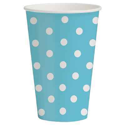 Spritz Paper Cups Light Blue Printed (10 Count)