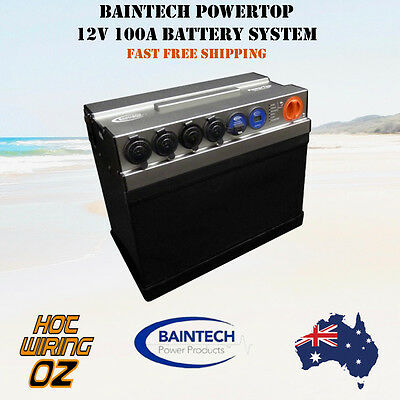 BAINTECH POWERTOP 12V 100Ah ALL IN ONE  PLUG n PLAY COMPLETE BATTERY SYSTEM